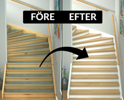 Före och efter trapprenovering