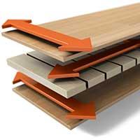 Renoveringstrappsteg i flerskiktskonstruktion